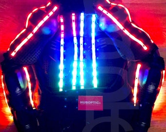 Custom LED Clothing Jacket Robot Costume Stilt Dancer for Gigs DJ Rave Glow Party Cosplay LED Wear Light Suit Customized Suit