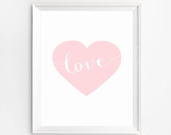 Love Wall Art, Heart Wall Art Print, Wall Art Prints, Nursery Print, Love Print, Baby Prints, Love Poster, Nursery Wall Art, Nursery Decor