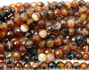 Dream Agate Faceted Gemstone Beads