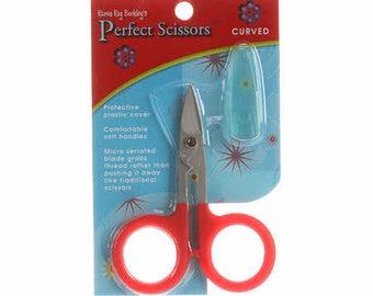 Scissors - Perfect Curved Scissors Karen Kay Buckley 3 3/4 inch Red