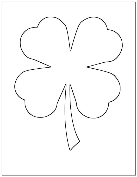 It's just a photo of Handy Printable Shamrock Templates