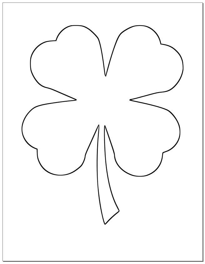 8.5 inch Shamrock Template-Large Printable Shamrock-St.