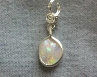 Natural Andamooka Semi-crystal Opal Pendant
