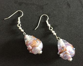 Lampworked Glass Earrings