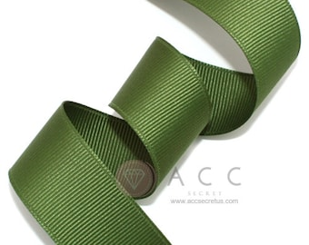 5Yards Olive Drab Solid Grosgrain Ribbon - 5mm(2/8''), 10mm(3/8''), 15mm(5/8''), 25mm(1''), and 40mm(1 1/2'')