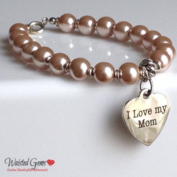 Mothers Day Bracelets, Nana, Mimi Bracelet, Gifts for her, Mothers Day Gifts, Grand Mother Gifts Pearl Bracelets zmw1971.33
