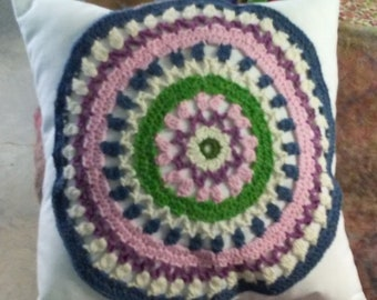 Crocheted Mandala Pillow