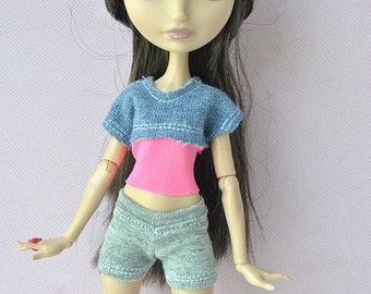 Handmade top and shorts  for Ever After High dolls