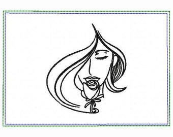 Modern Ladies 01A Small Money Purse - In The Hoop Machine Embroidery Design