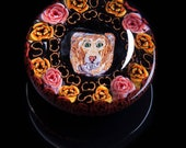 Artisan Lion with Roses L...