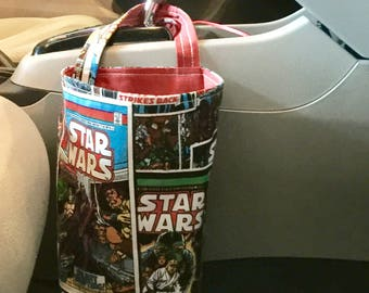 Star Wars Car Trash Bag / Hanging Storage Bag / Car Organizer / Sewing Table Scrap Bag and more / Force Awakens