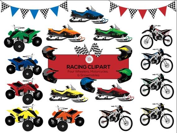 racing clipart motorcycle clipart four wheeler atv rh etsy com free clipart atv atv cartoon clip art