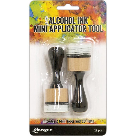 """MINI 1"""" round Alcohol ink applicator, this tool is perfect for precise, less free application of Alcohol Inks, Mixatives, Blending Solution"""