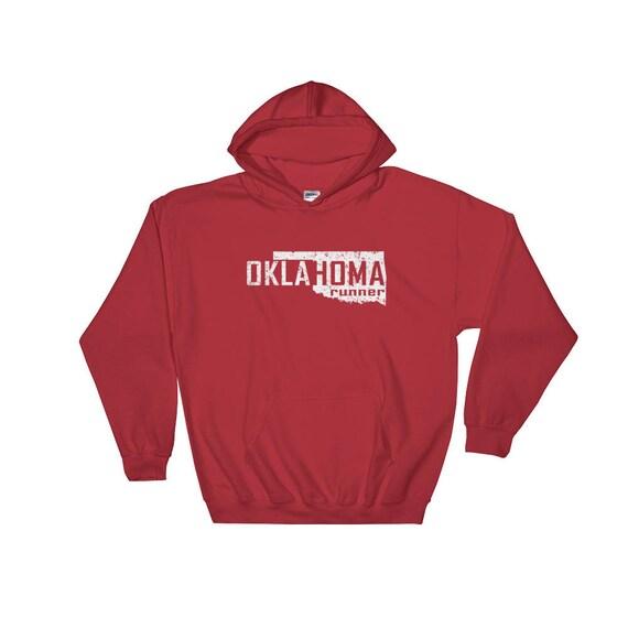 Oklahoma Runner Hooded Sweatshirt - Unisex - Run Oklahoma - Heavy Hoodie Sweatshirt