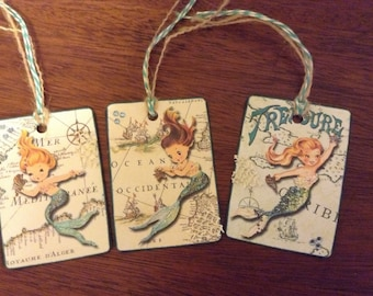 Sparkly  Mermaid Gift Tags