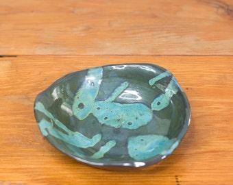 Gunmetal Splatter Bowl