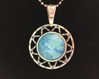 Wearable Art, Handcrafted, One of a kind, Original, Pendant, Necklace
