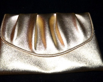 Lovely Vintage Gold Glam Evening Clutch Purse