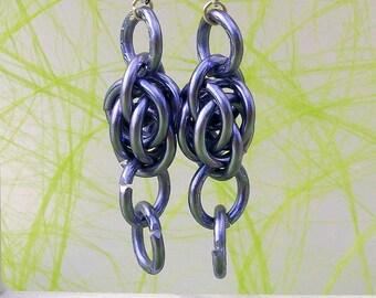Earrings modern lilac