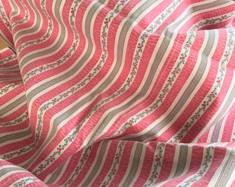 Vintage Pillow Ticking: 4 Yards Pink Stripes