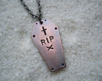 RIP Coffin Necklace