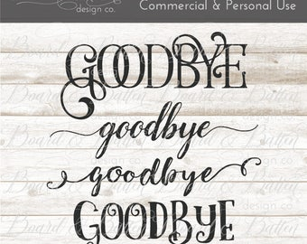 Goodbye Bundle svg Files - Svg Cut Files - Wood Sign Svg - Dxf Files - Commercial Svg File Designs - Cricut Templates - Silhouette Designs