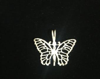 Sterling Silver Butterfly .925 Handmade Pendant 26 mm (2.6 cm) 3 Grams