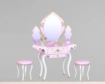 Wall decals dressing table A549 - Stickers coiffeuse A549
