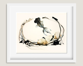 "Watercolor Painting - Goldfish Watercolor - ""Joy"" - 8 by 10 print - Archival Print, Home Decor, Goldfish Art"