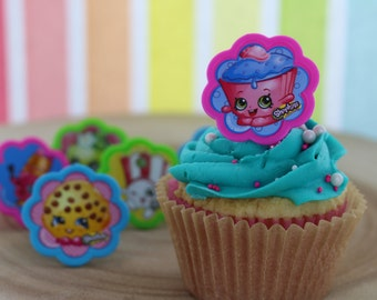 Shopkins Cupcake Toppers / Decorations / Rings / Cupcake & Cake / Party Favors