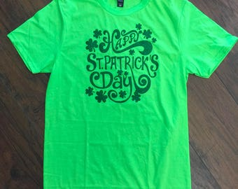 Adult LG Happy St. Patrick's Day Tee