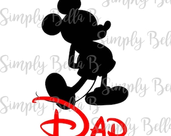 Mickey Dad INSTANT DOWNLOAD Printable Digital Iron-On Transfer Design - DIY - Disney Vacation - Matching Shirts