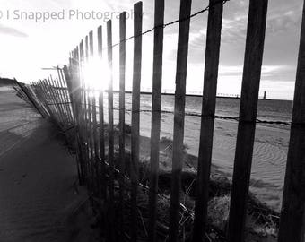 Black and white fence 2