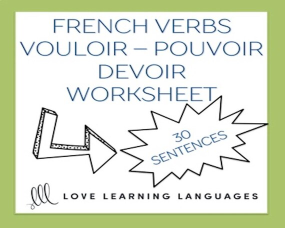 Vouloir Pouvoir Devoir French Grammar Worksheet
