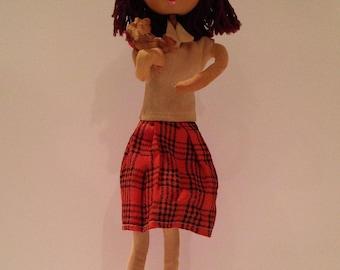 Vintage Big Eyed Japanese Stocking Doll