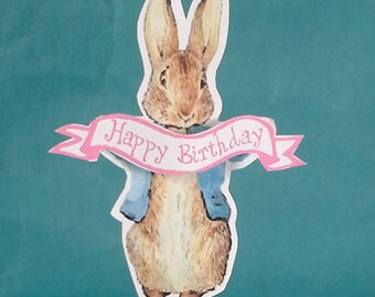 Peter Rabbit cupcake toppers, Peter Rabbit birthday, toppers A081                                           cupcakes