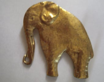 Large vintage Golden Elephant Pin