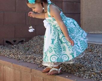 Girl's Dress sewing tutorial PDF children's clothing Bowtie Halter dress INSTANT DOWNLOAD