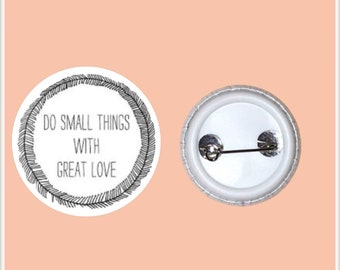 "With Love 1"" Pin-Back Button"