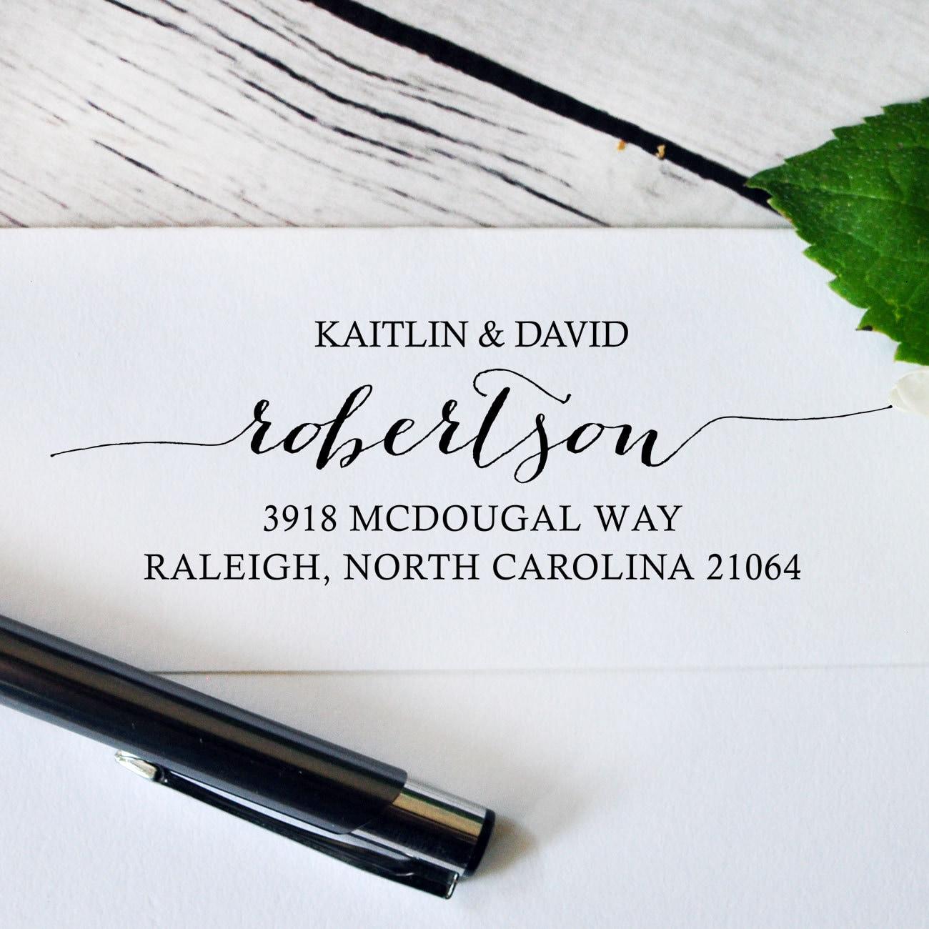 Self Inking Return Address Stamp Wedding Invitation Address
