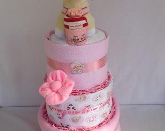 Three tier nappy cake