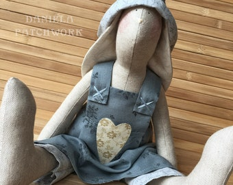 bunny doll. rabbit toys. rabbit decor. bunny toys. primitive decor bunny dolls. rag dolls handmade. stuffed animal bunny. baby toys handmade