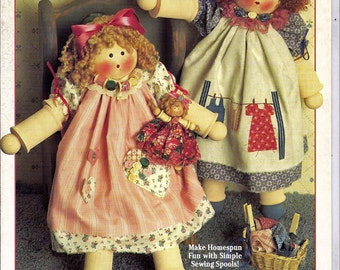 Spoolie Babies Suzanne McNeill Design Originals Craft Pattern Book 1025