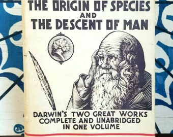 Charles Darwin, The Origin of Species & The Descent of Man, Rare 1st Modern Library Edition w/ Dust Jacket (1936)