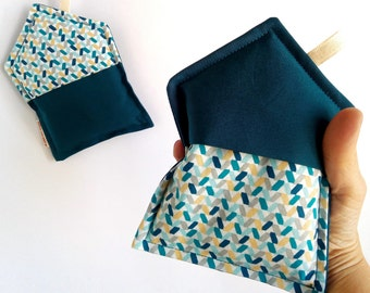 Kitchen pot holders, fabric pot holders, green octane pot holders, kitchen set, pot holders and oven glove, new home gift, modern pot holders