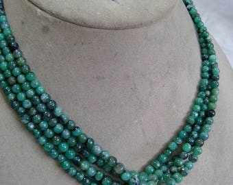 1 Strand  Emerald Rough  beads  15''  14, grams 4To 7 MM
