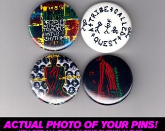 """A Tribe Called Quest - 1.5"""" Pins / Buttons (vintage poster print lp art hip hop rap)"""