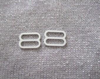 LOT 2 fasteners 8 (1.5 cm x 1,1 cm) steel for bra straps