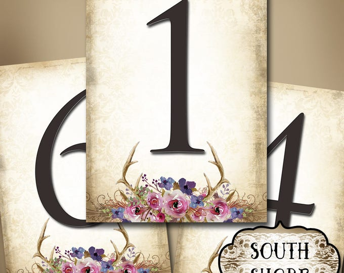 SOUTH SHORE•Wedding Table Number•5x7•Printable•Weddings•Parties•Bridal Shower•Baby Shower•Seating Numbers•Wedding Decoration
