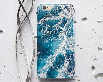 Ocean Phone Case iPhone 7 Plus Case Sea Blue iPhone Case iPhone 6 Case Wave Water iPhone 8 iPhone 7 Case iPhone 6s Plus iPhone X WC1740